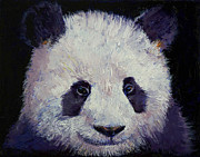 Modern Realism Oil Paintings - Baby Panda by Michael Creese