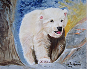 Relax Paintings - Baby Polar Bear by Maria Pia Guarneri