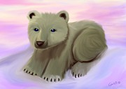 Polar Bears Framed Prints - Baby Polar Bear Framed Print by Nick Gustafson