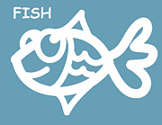 Baby Room Posters - Baby Room Art - Fish Poster by Nursery Art