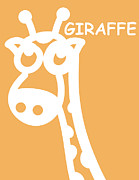 Shower Digital Art - Baby Room Art - Giraffe by Nursery Art