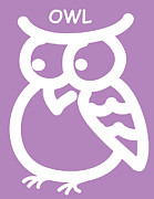 Baby Room Posters - Baby Room Art - Owl Poster by Nursery Art