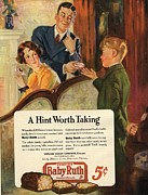 Candy Drawings - Baby Ruth 1927 1920s Usa Chocolate by The Advertising Archives