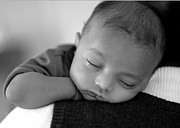 Mother Photo Prints - Baby Sleeps Print by Lisa  Phillips
