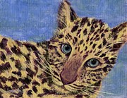 Panthers Painting Prints - Baby Spotted Cat Print by Jamie Frier