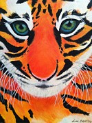 Lisa Bentley Art - Baby Tiger by Lisa Bentley
