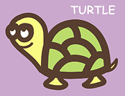 Baby Turtle Posters - Baby Turtle Nursery Wall Art Poster by Nursery Art