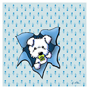 Puppy Digital Art Metal Prints - Baby Westie Blast Metal Print by Kim Niles