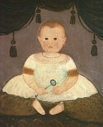 Artist Unknown - Baby With Rattle  c1840