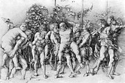 Grape Vineyard Photo Posters - Bacchanal With Silenus - Albrecht Durer Poster by Daniel Hagerman