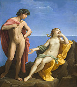 Bacchus Posters - Bacchus and Ariadne Poster by Guido Reni