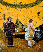 Figurative Prints - Bacchus and Flora - Study No. 1 Print by Steve Bogdanoff