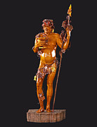 Wooden Sculpture Metal Prints - Bacchus Metal Print by Jacek Sumeradzki