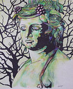 Rome Drawings Framed Prints - Bacchus Framed Print by Jeremy Elkington
