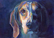 Beagle Paintings - Bacchus by Kimberly Santini