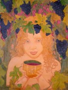 Grape Reliefs Prints - Bacchus Print by Ron Moses