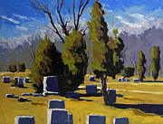 Cemetery Painting Posters - Back Again to Mt.Hope Poster by Charlie Spear