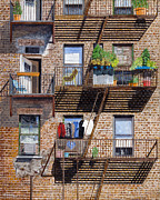Back Alley View Greenwich Vlg Print by Stuart B Yaeger