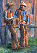 Cowboy Painting Originals - Back at the Ranch by Jerry McElroy