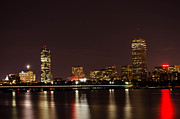 Boston Ma Posters - Back Bay at Night Poster by Mike Ste Marie