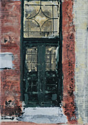 Boston Paintings - Back Bay Door by Heather Douglas