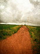 Farming Prints - Back Country Road PEI Print by Edward Fielding