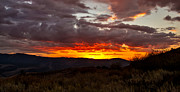 Layered Prints - Back Country Sunset Print by Robert Bales