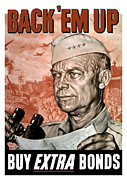 Featured Art - Back Em Up General Eisenhower  by War Is Hell Store