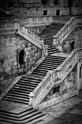 Stone Steps Framed Prints - Back Entrance Framed Print by Joan Carroll