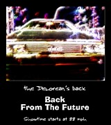 Delorean Art Framed Prints - Back From The Future Framed Print by Renee Trenholm
