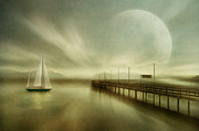 Fog At Sea Prints - Back Home  Print by manhART