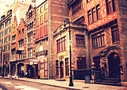 Neo Prints - Back in Time - Stone Street Historic District - New York City Print by Vivienne Gucwa