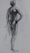 Exhibits Art - Back lighting on Nude by Ernest Principato