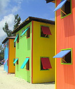 Caribbean Architecture Prints - Back Of Cabins 2 Print by Randall Weidner