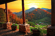 Sun Porches Photos - Back Porch Paradise - Fine Art by Lynn Bauer by Lynn Bauer