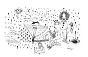 Raining Drawings - Back Rooms Of My Mind Door 16113 by Michael Mooney