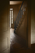 Wooden Stairs Prints - Back Stairway Print by Margie Hurwich