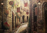 Bistro Paintings - Back Street Bistro by Martin Lacasse