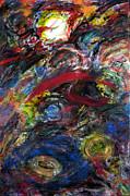Back To Black - Galaxy Storm Print by Jason Stephen