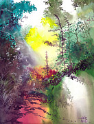 Landscape Drawings - Back to Jungle by Anil Nene