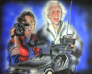 Movie Art Paintings - Back to the Future by Jacob Logan