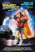 Movies Digital Art Framed Prints - Back To The Future Part 2 Poster Framed Print by Sanely Great
