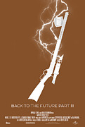 Back Posters - Back to the Future Part 3 Custom Poster Poster by Jeff Bell