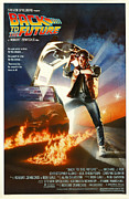 Movies Digital Art Framed Prints - Back to the Future Poster Framed Print by Sanely Great