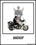 Police Officer Art - Back Up by Lydia Warner Miller