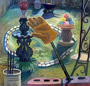 Glove Originals - Back Yard II by Mary W Andrus