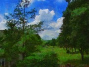 Jeff Kolker Digital Art - Back Yard View by Jeff Kolker