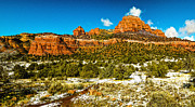 Oak Creek Digital Art Posters - Backcountry Panorama Sedona Poster by Nadine and Bob Johnston