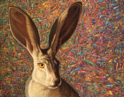 Rabbit Prints - Background Noise Print by James W Johnson