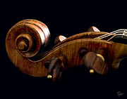 The Violin - Backlit Scroll by Endre Balogh